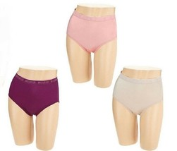 Breezies Set of 3 Nylon Microfiber Hi Cut Panty 2X - $12.86