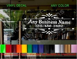 STORE NAME window Door Decal Sign CUSTOM Salon boutique law Medical Office pub - $18.39+