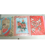 "3 Lot NEW Big 11 1/2""X 8 1/2"" Fur Flise Valentine Day Greeting Cards NIP - $9.40"