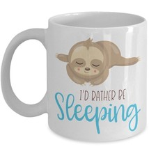 Cute Sloth Mug I'd Rather Be Sleeping Ceramic Hate Mondays Work Coffee Cup Gift - $19.50+