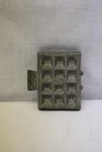 VINTAGE Hinged Pewter ICE CREAM Mold, WAFFLE Shape, Not Stamped - $39.99