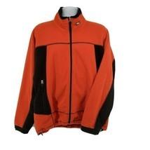 RLX Polo Sport Thermal Fleece Mens XL Jacket Orange Full Zip Ralph Lauren - $47.47