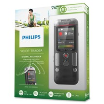 Philips Voice Tracer DVT2500 4GB Digital Recorder Dual Mic 32GB Expandab... - $83.29