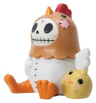 Sitting Furrybones Nugget Chicken Skull Face in Costume with Hood - $19.99