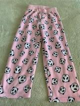 Childrens Place Girls Pink White Black Panda Bears Fleece Pajama Pants 5-6 - $5.48
