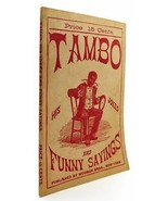 Bobby Newcomb TAMBO: HIS JOKES AND FUNNY SAYINGS  1st Edition 1st Printing - $84.50