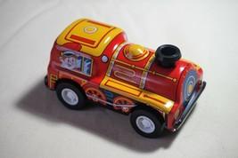 "New VINTAGE Tin Toy Sanko 3"" Metal Friction Train Locomotive Made in Japan - $10.84"