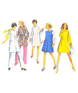 1970s Vintage Simplicity Sewing Pattern 8760 Maternity Dress Jumper Pant... - $6.95