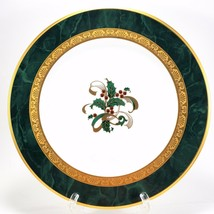 """Noritake Fitzgerald Holiday Accent Salad Plate 8.5"""" Christmas Holly 4712 - $42.57"""