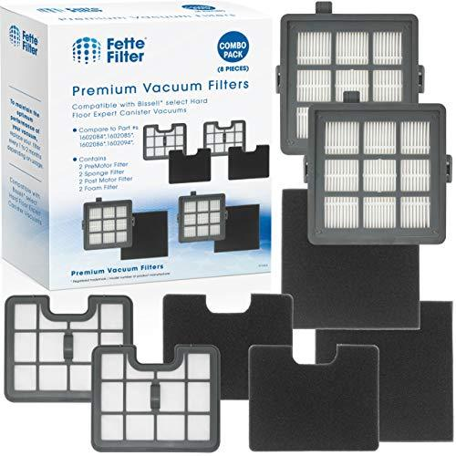 Fette Filter - Filter Set Compatible with Bissell Hard Floor Expert Canister Vac