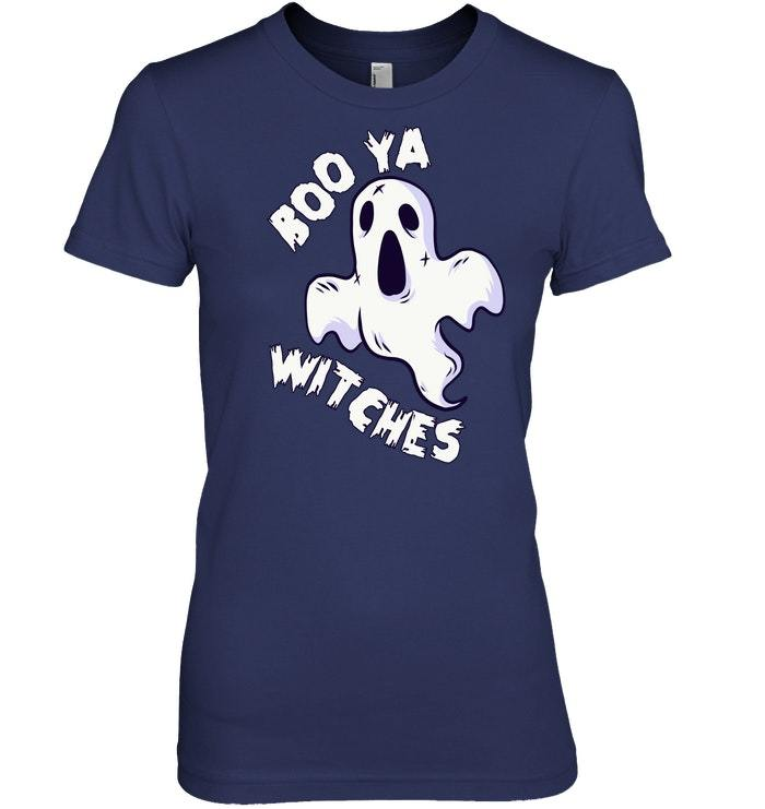 Funny Halloween Tshirt Boo Ya Witches Ghost Design