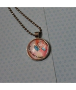 Just One More Page... Cabochon Necklace - $4.50