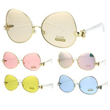Pearl Nose Pad Clown Hand Hinge Drop Temple Swan Sunglasses - $18.39 CAD