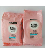 Lot 3 Clean Express No Rinse Makeup Remover Face & Eyes Maybelline 75 To... - $27.71
