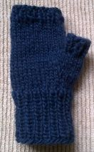 Lopi wool sweater fingerless Mittens hand knitted in navy Blue by unique... - $443,07 MXN