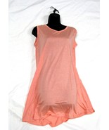 Women's Short Sleeve Dress Casual Solid Soft Cotton / Polyester, Peach. ... - $12.82