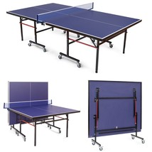 Removable Foldable Net Table Tennis Table with Locking Casters  - $495.22