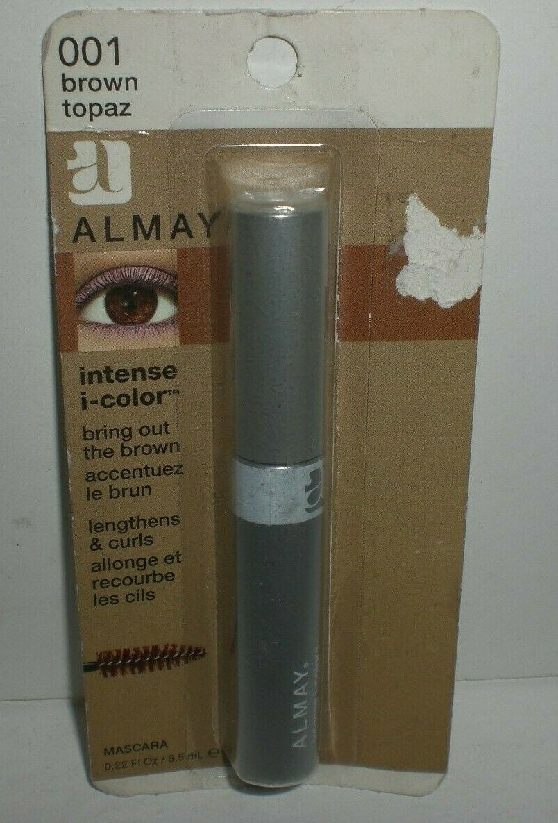 Primary image for Almay Intense I-Color Mascara #001 Brown Topaz Lengthens & Curls Worn Package