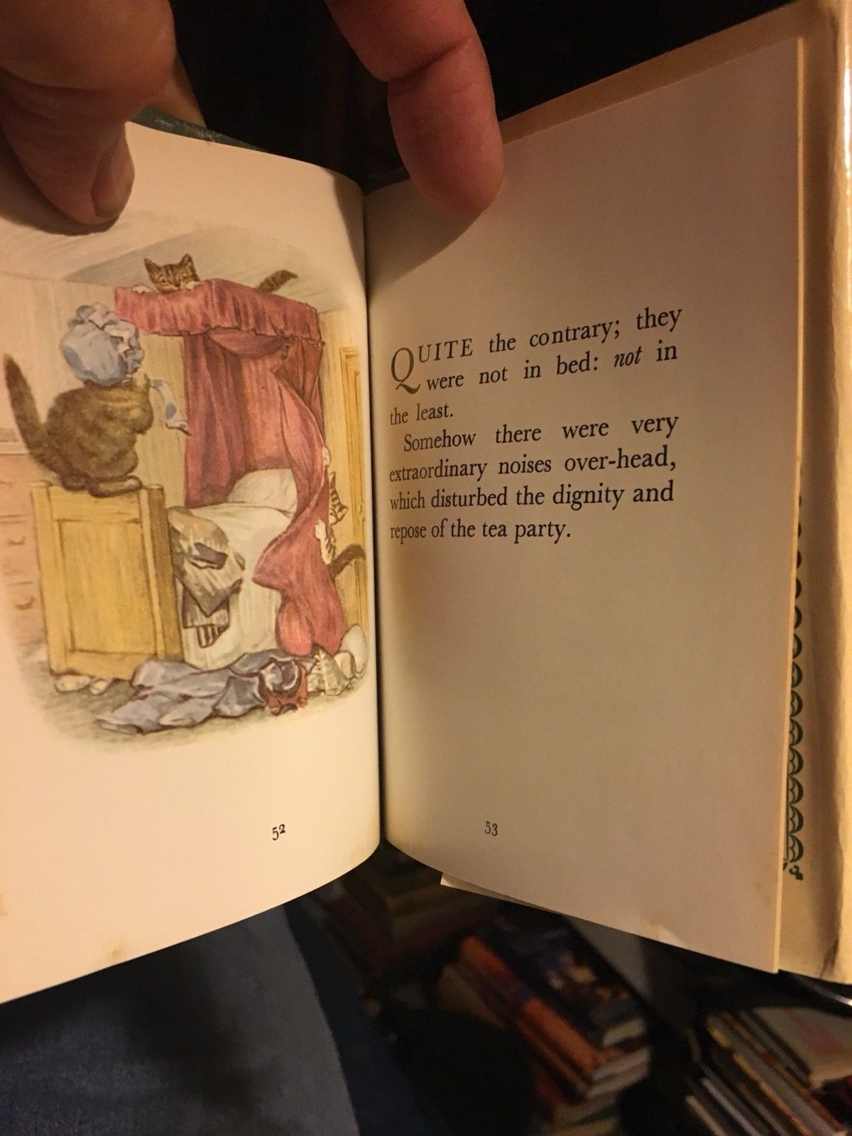 Beatrix Potter THE TALE OF TOM KITTEN hardcover In Dust Jacket.