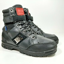 Coogi Lace Up Boot Mens Black Leather Size 8 - $21.77