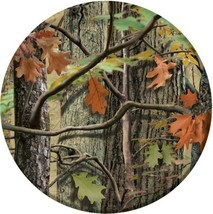 """Hunting Camo 8 Dessert Plates 7"""" Birthday Party Woods Bachelor Nature - $3.70"""