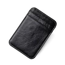 Genuine Leather Thin Card Case Holder Slim Handy Wallet Front Pocket (W - $22.09