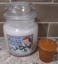 Yankee Candle 14.5  JACK FROST Candle + Rare + FREE YANKEE VOTIVE BONUS - $18.80