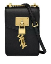 DKNY Elissa pebble leather charm  chain strap crossbody bag  - $89.10