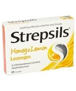 Strepsils Honey & Lemon 24 Lozenges First Aid For Sore Throats - $7.03+