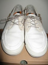 TIMBERLAND Canvas/Leather Boat Shoes # 62538 11 Medium U.S-White - $88.61