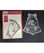 "Mikasa Clear Christmas Bell Candy Dish Celebrations by Mikasa 7"" with box - $14.84"