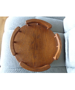 """Solid Oak Wood Crafts Lazy Susan 14"""" Amish Crafted Beautiful Rails Spindles - €38,76 EUR"""