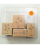 Stampin UP Sweet Stems Stamp Set EUC 4 Stamps - $11.73
