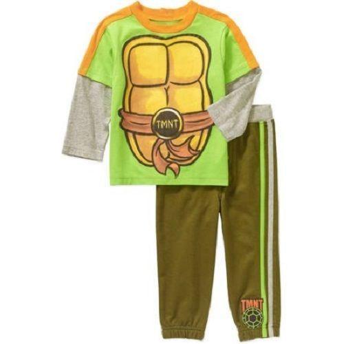 Teenage Mutant Ninja Turtles Boys Green Flannel Sleep Pants Pajama Bottoms S