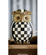 Checkered Owl Made From Resin And Lime Powder Stone (hc,nm) D21 - $217.80