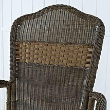 Classic Traditional Country Brown Resin Wicker Patio Rocking Chair Outdoor Porch image 2