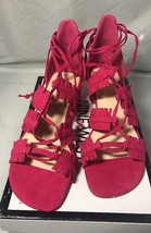 Nine West Ruby4You Ghillie Sandals Pink/red Women Size 7.5 - $29.70