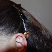 14mm Crystal Heart Hair Jewel image 4