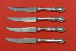 "Malvern by Lunt Sterling Silver Steak Knife Set 4pc HHWS  Custom Made 8 1/2"" - $247.10"
