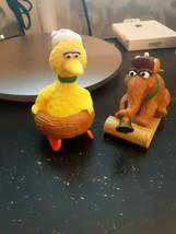 Sesame Street Snuffleupagus on sled BiG BIRD Vintage Applause PVC Figure Chris - $15.79