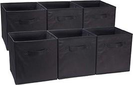 AmazonBasics Foldable Storage Bins Cubes Organizer, 6-Pack, Black (Black) - €23,74 EUR