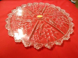 Beautiful Vintage Crystal.TRAY / PLATTER..Made in West Germany - $22.58