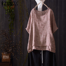 Plus Size ZANZEA 2018 Summer Women Blouse Short Batwing Sleeve Casual Sh... - $45.20