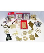 LARGE LOT of BRASS CHRISTMAS ORNAMENTS - $25.00
