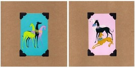 NEW Greyhound Birthday/Blank Note 6-Card Set-Upcycled Vintage Playing Cards - $15.95