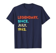 Brother Shirts - Vintage Legendary Since July 1962 Shirt 56th Birthday G... - $19.95+