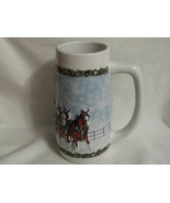 2009 Budweiser A Holiday Tradition Clydesdale Beer Stein 7 Inches Tall - $9.99