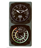 TRINTEC Altimeter Altitude Clock Airspeed Indicator Thermometer Console ... - $61.13