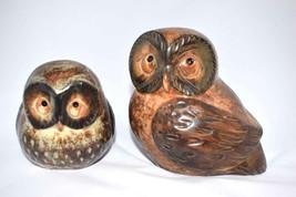 Set of 2 vintage 1970's ARDCO OWLS Ceramic Figurines numbered on bottom ... - $6.21