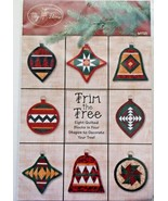 My Time #MT121Trim the Tree 8 Quilted Blocks 4 Shapes Tree Decorations New - $7.91